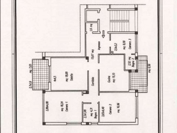 Appartamento in vendita a Perugia, Fonti Coperte, 100 mq - Foto 2