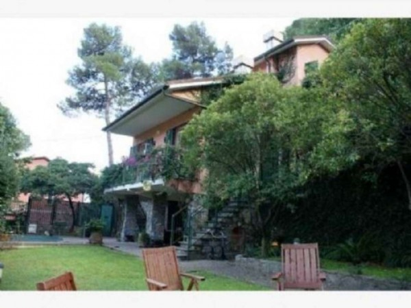 Villa in vendita a Rapallo, San Michele Di Pagana, Con giardino, 280 mq