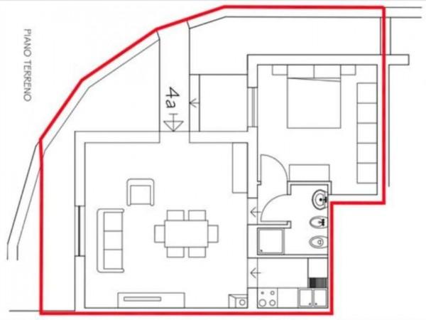 Appartamento in vendita a Castelnuovo Berardenga, Con giardino, 50 mq - Foto 2