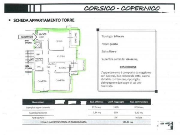 Appartamento in vendita a Corsico, Via Copernico, 106 mq - Foto 2