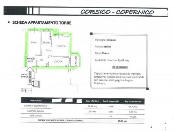 Appartamento in vendita a Corsico, Via Copernico, 65 mq - Foto 2
