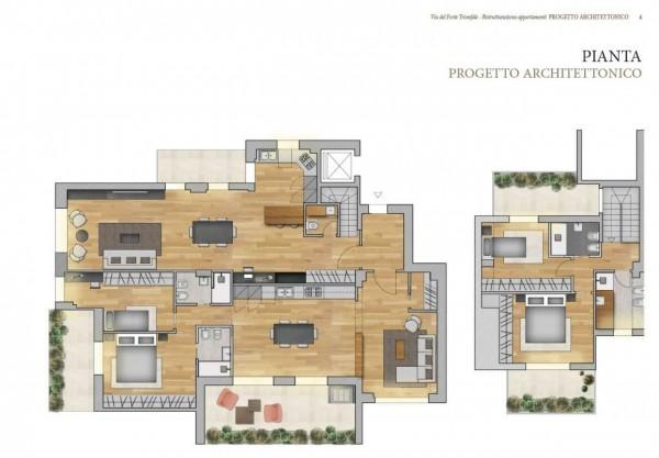Appartamento in vendita a Roma, Camilluccia, Trionfale, Cortina D'ampezzo, 227 mq - Foto 4
