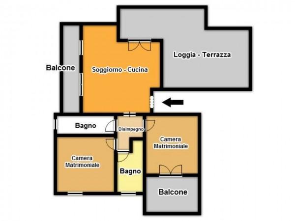 Appartamento in vendita a Brescia, Fiumicello, Con giardino, 92 mq - Foto 3