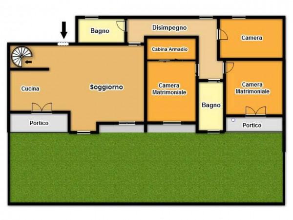 Appartamento in vendita a Brescia, Fiumicello, Con giardino, 125 mq - Foto 3