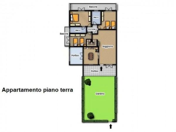 Appartamento in vendita a Travagliato, Con giardino, 190 mq - Foto 3
