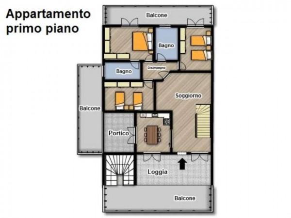 Appartamento in vendita a Travagliato, Con giardino, 190 mq - Foto 8