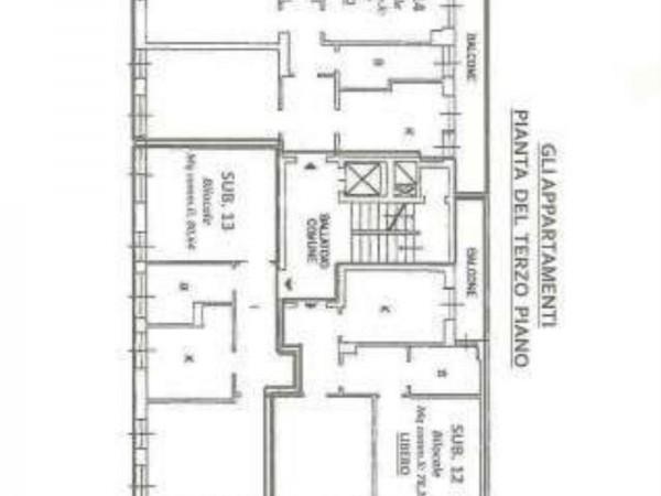 Appartamento in vendita a Milano, San Siro, Con giardino, 77 mq - Foto 17