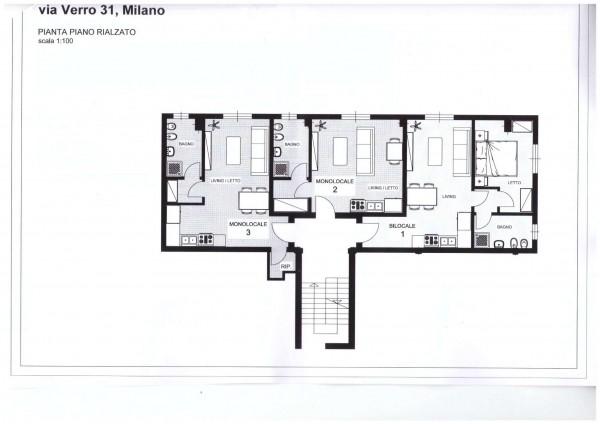 Appartamento in vendita a Milano, Bazzi Spadolini, Arredato, con giardino, 56 mq - Foto 17