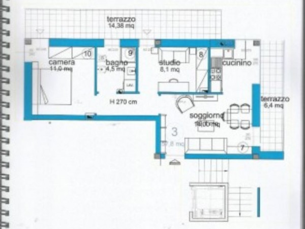 Appartamento in vendita a Lavagna, Centro, Arredato, 50 mq - Foto 6
