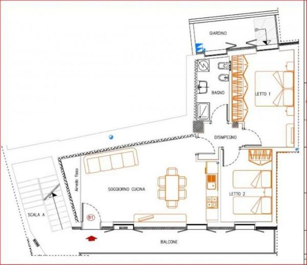 Appartamento in vendita a Gavirate, 80 mq - Foto 3