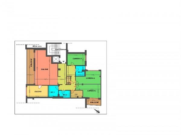 Appartamento in vendita a San Donato Milanese, Torri Lombarde, 220 mq - Foto 2