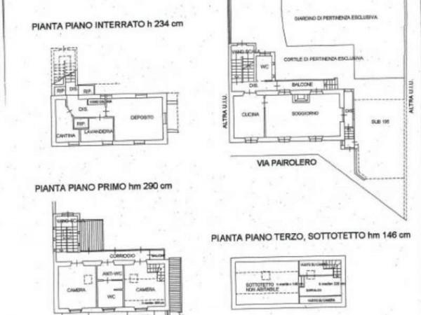 Casa indipendente in vendita a Venaria Reale, Con giardino, 150 mq - Foto 6