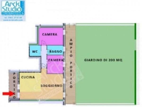 Appartamento in vendita a Cassano d'Adda, Con giardino, 127 mq - Foto 13