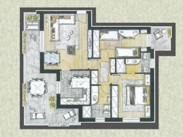Appartamento in vendita a Cassano d'Adda, Con giardino, 63 mq - Foto 4