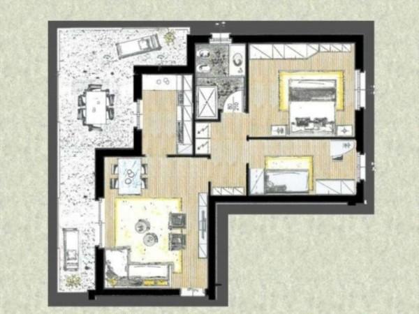 Appartamento in vendita a Cassano d'Adda, Con giardino, 63 mq - Foto 3