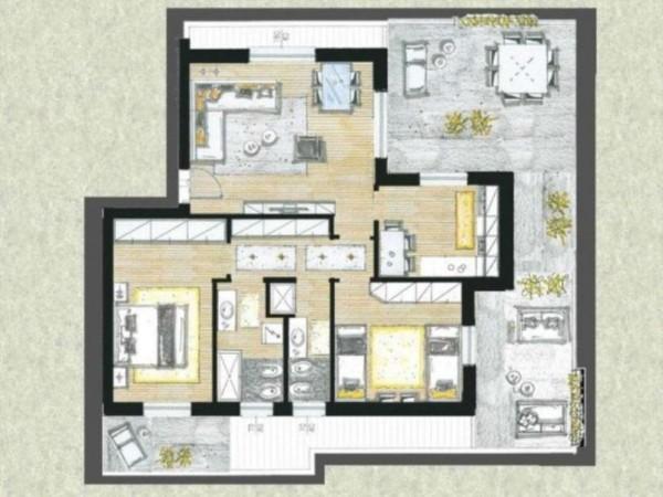 Appartamento in vendita a Cassano d'Adda, Con giardino, 63 mq - Foto 7