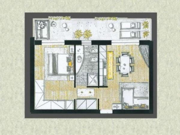 Appartamento in vendita a Cassano d'Adda, Con giardino, 63 mq - Foto 6
