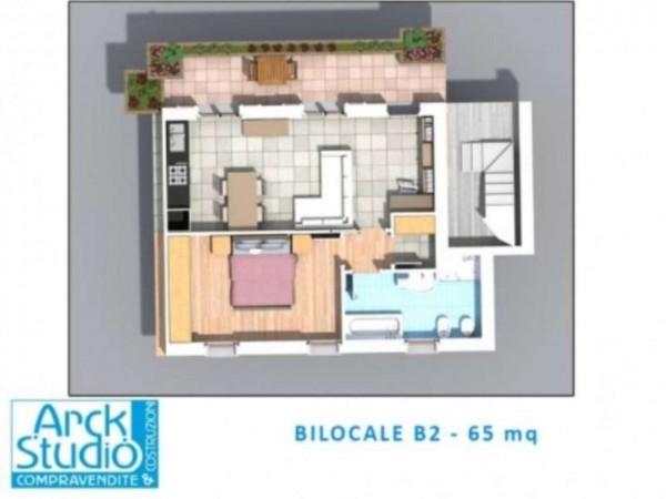 Appartamento in vendita a Inzago, Centro Storico, Con giardino, 71 mq - Foto 20