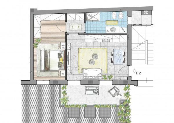 Appartamento in vendita a Inzago, Centro Storico, Con giardino, 71 mq