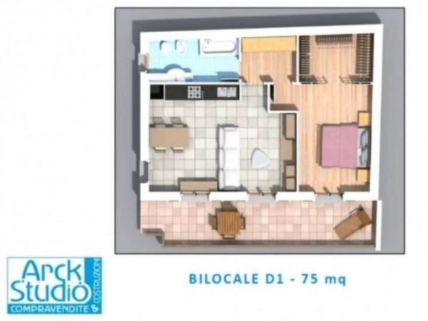 Appartamento in vendita a Inzago, Centro Storico, Con giardino, 71 mq - Foto 21