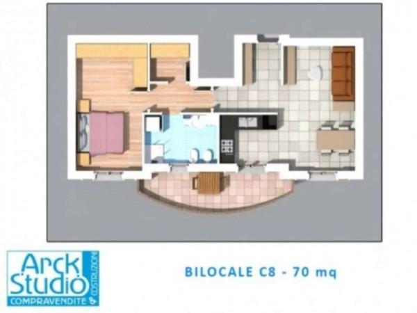 Appartamento in vendita a Inzago, Centro Storico, Con giardino, 71 mq - Foto 19