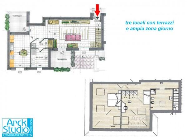 Appartamento in vendita a Inzago, Naviglio, 130 mq - Foto 2
