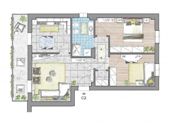 Appartamento in vendita a Inzago, Centro Storico, Con giardino, 90 mq - Foto 2