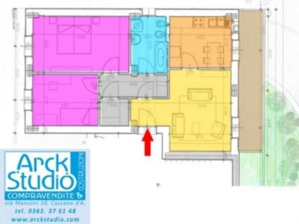 Appartamento in vendita a Inzago, Centro Storico, Con giardino, 90 mq - Foto 13