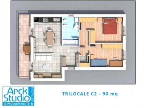 Appartamento in vendita a Inzago, Centro Storico, 90 mq