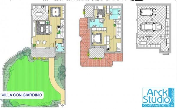 Villa in vendita a Liscate, Con giardino, 200 mq - Foto 2