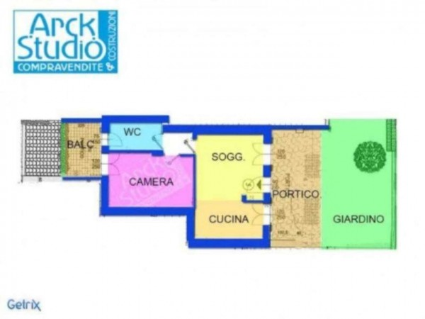 Appartamento in vendita a Inzago, Con giardino, 65 mq - Foto 3