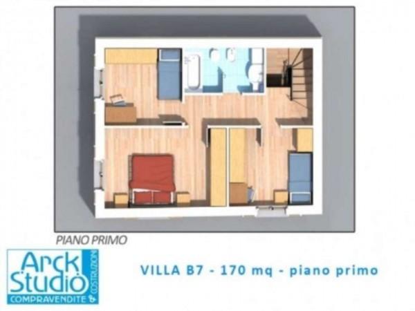 Villetta a schiera in vendita a Inzago, Con giardino, 170 mq - Foto 16