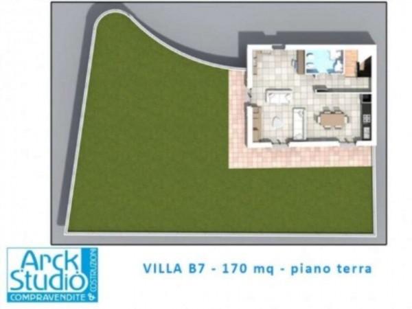 Villetta a schiera in vendita a Inzago, Con giardino, 170 mq - Foto 17