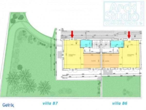 Villetta a schiera in vendita a Inzago, Con giardino, 170 mq - Foto 7