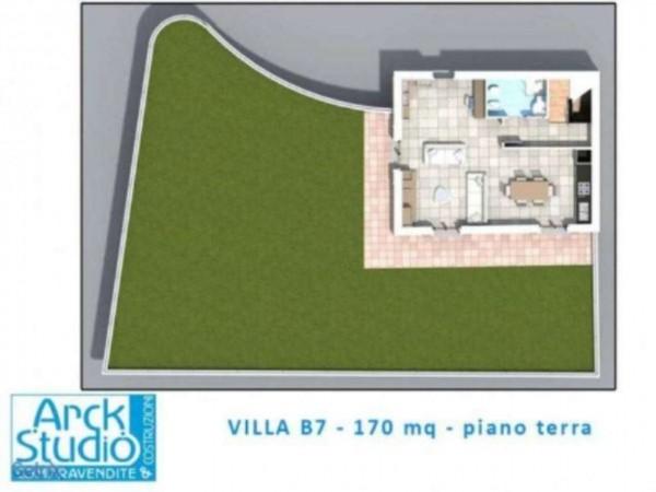 Villetta a schiera in vendita a Inzago, Con giardino, 170 mq - Foto 4