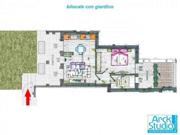 Appartamento in vendita a Inzago, Naviglio, Con giardino, 65 mq