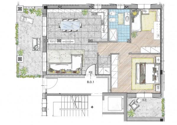 Appartamento in vendita a Cassano d'Adda, Naviglio, Con giardino, 93 mq