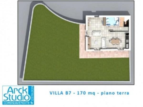 Villa in vendita a Inzago, Centro Storico, Con giardino, 170 mq - Foto 18