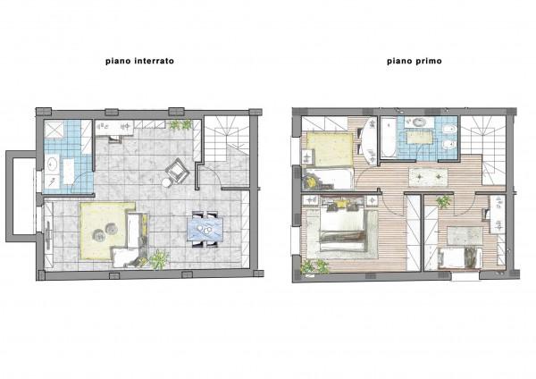 Villa in vendita a Inzago, Centro Storico, Con giardino, 170 mq - Foto 2