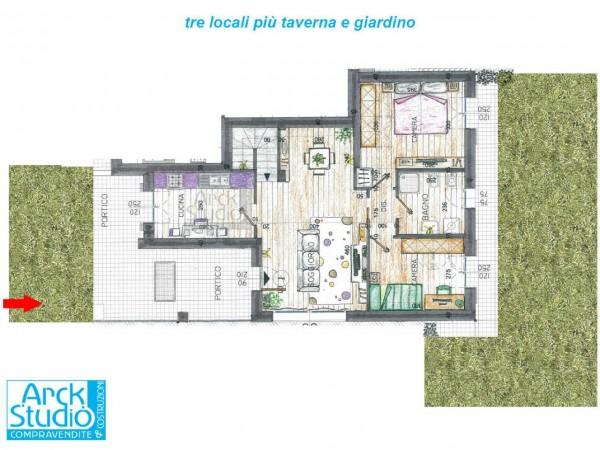 Appartamento in vendita a Inzago, Naviglio, Con giardino, 130 mq