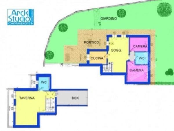 Appartamento in vendita a Inzago, Naviglio, Con giardino, 130 mq - Foto 10