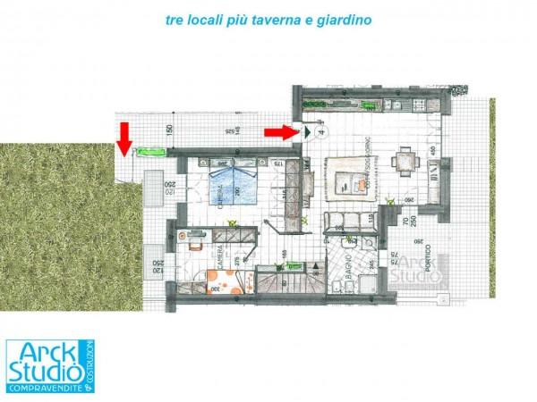 Appartamento in vendita a Inzago, Naviglio, Con giardino, 130 mq - Foto 3