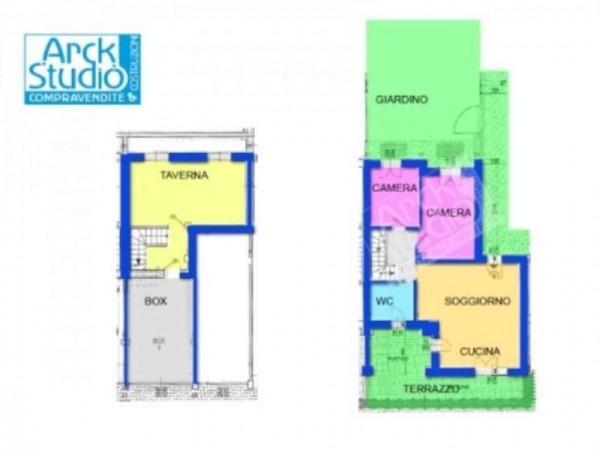 Appartamento in vendita a Inzago, Naviglio, Con giardino, 130 mq - Foto 11