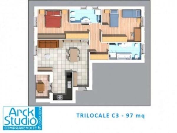Appartamento in vendita a Inzago, Centro Storico, 100 mq