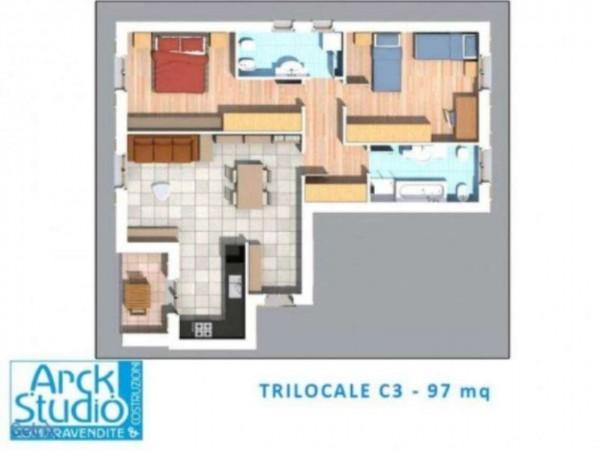 Appartamento in vendita a Inzago, Con giardino, 100 mq - Foto 4