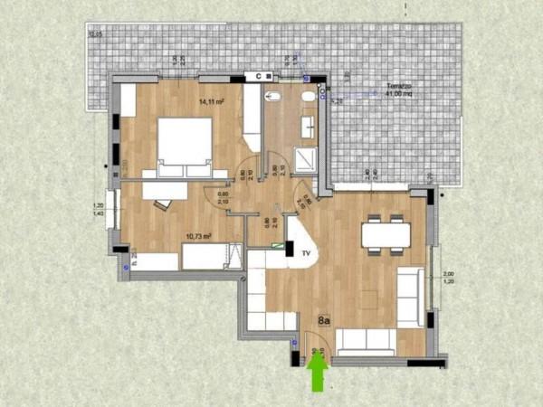 Appartamento in vendita a Melzo, Cassano D'adda, Con giardino, 63 mq - Foto 9