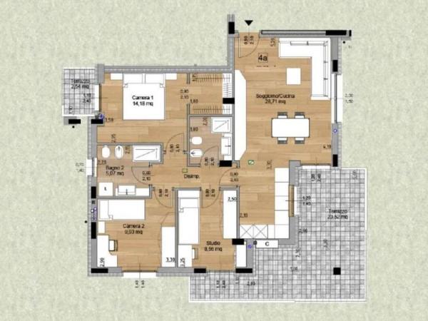 Appartamento in vendita a Melzo, Cassano D'adda, Con giardino, 63 mq - Foto 10