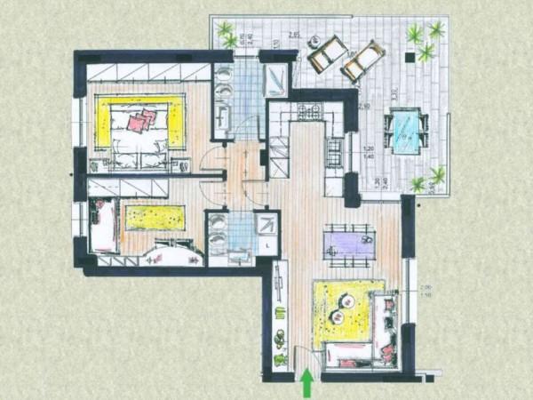 Appartamento in vendita a Melzo, Cassano D'adda, Con giardino, 63 mq - Foto 20