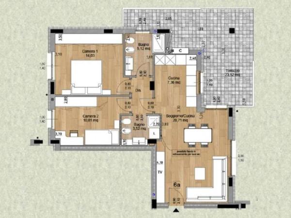 Appartamento in vendita a Melzo, Cassano D'adda, Con giardino, 63 mq - Foto 7