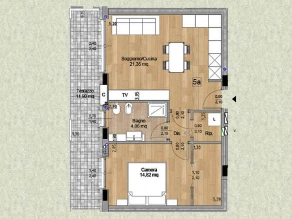 Appartamento in vendita a Melzo, Cassano D'adda, Con giardino, 63 mq - Foto 8